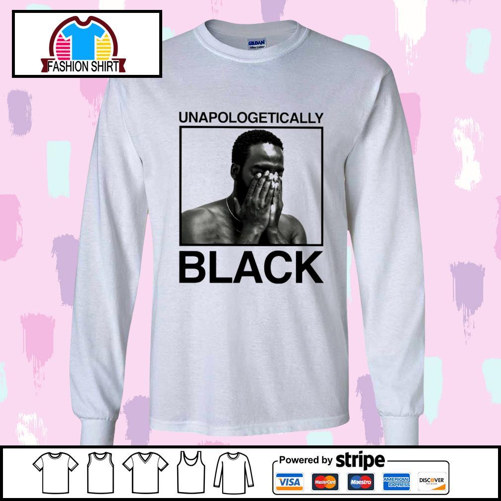 Black man unapologetically black s longsleeve-tee