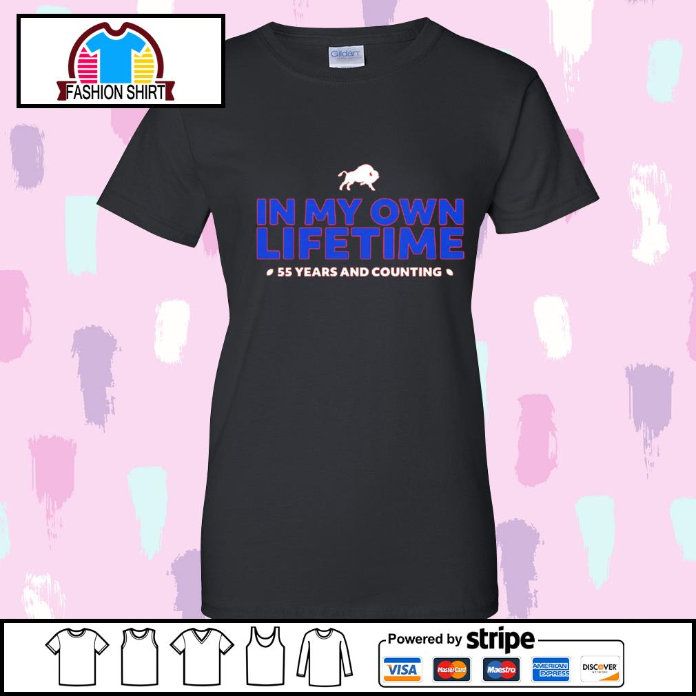 Buffalo Bills in my own lifetime 55 years and counting s v-neck-t-shirt