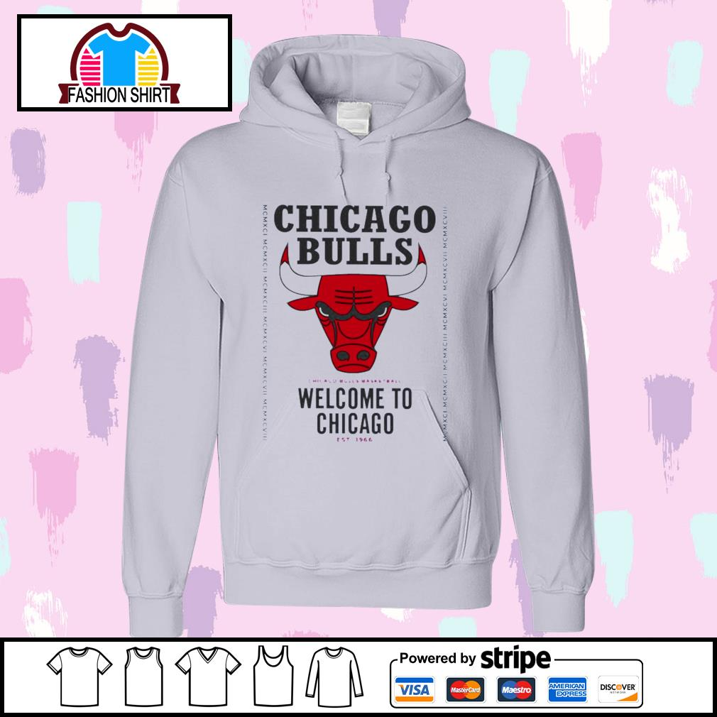 Chicago Bulls basketball welcome to Chicago est 1966 s hoodie