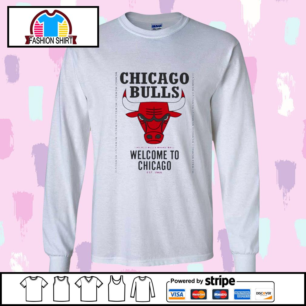 Chicago Bulls basketball welcome to Chicago est 1966 s longsleeve-tee