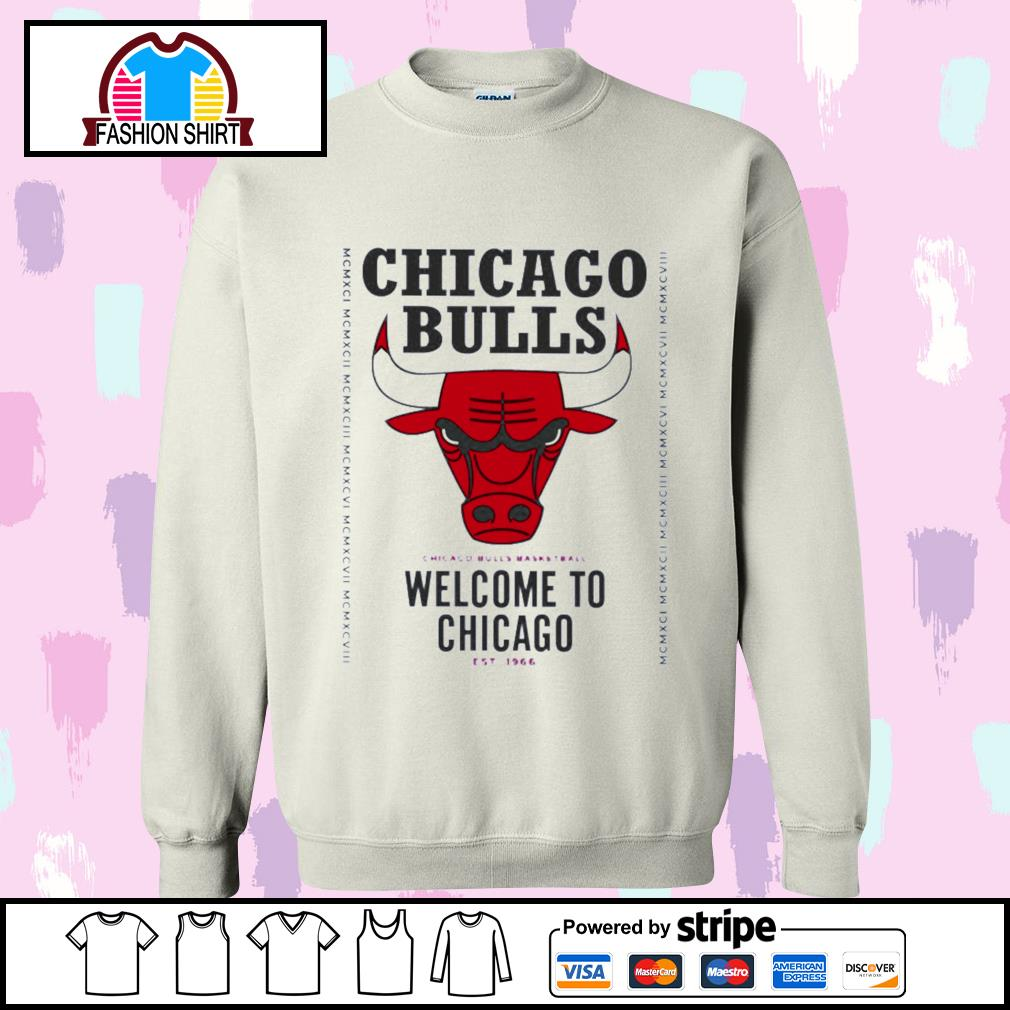 Chicago Bulls basketball welcome to Chicago est 1966 s sweater