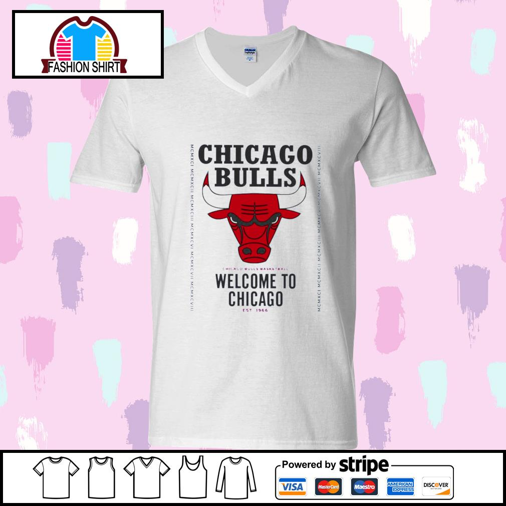 Chicago Bulls basketball welcome to Chicago est 1966 s youth-tee