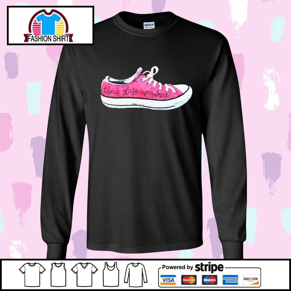 Converse there's glass everywhere sneaker s longsleeve-tee