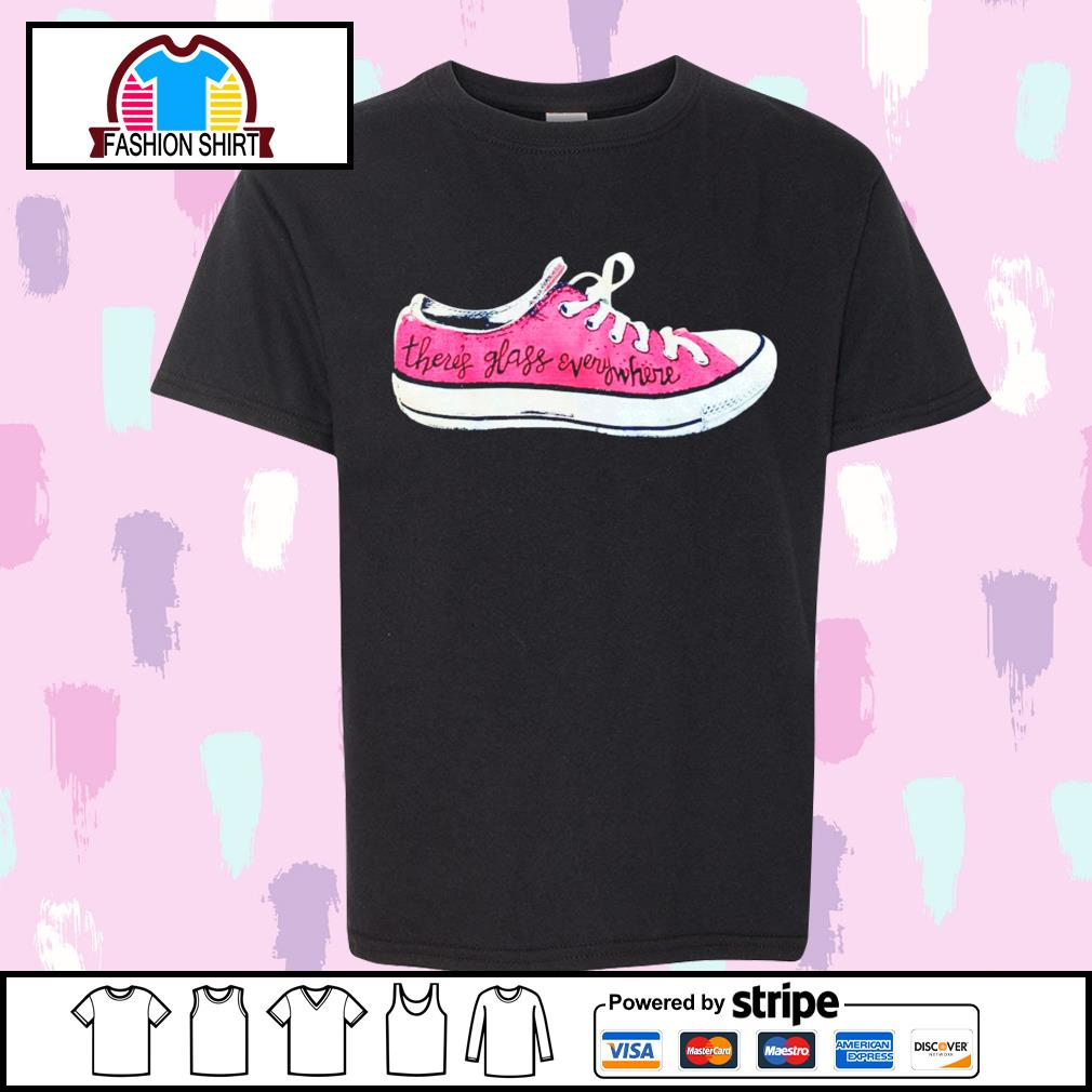 Converse there's glass everywhere sneaker shirt