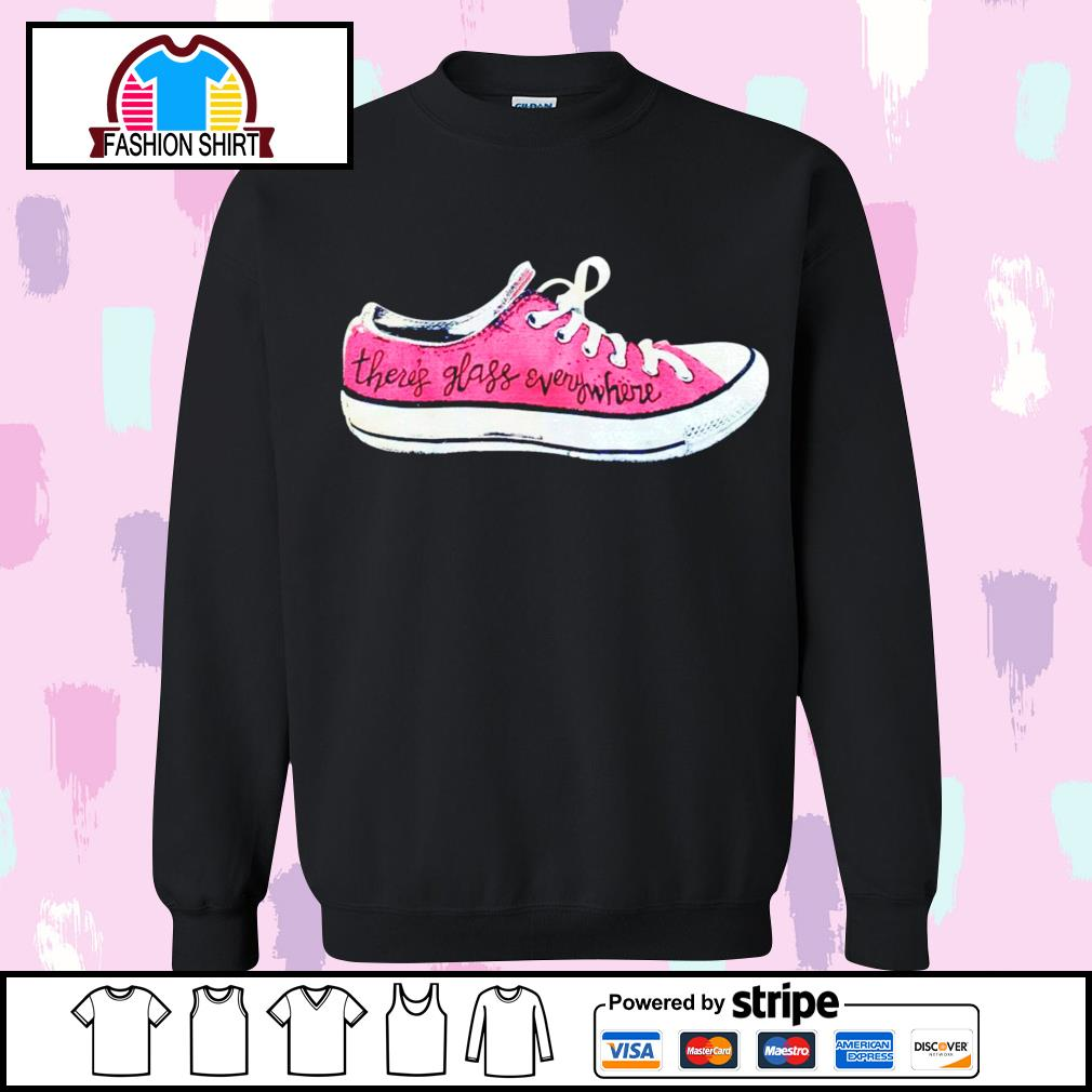 Converse there's glass everywhere sneaker s sweater
