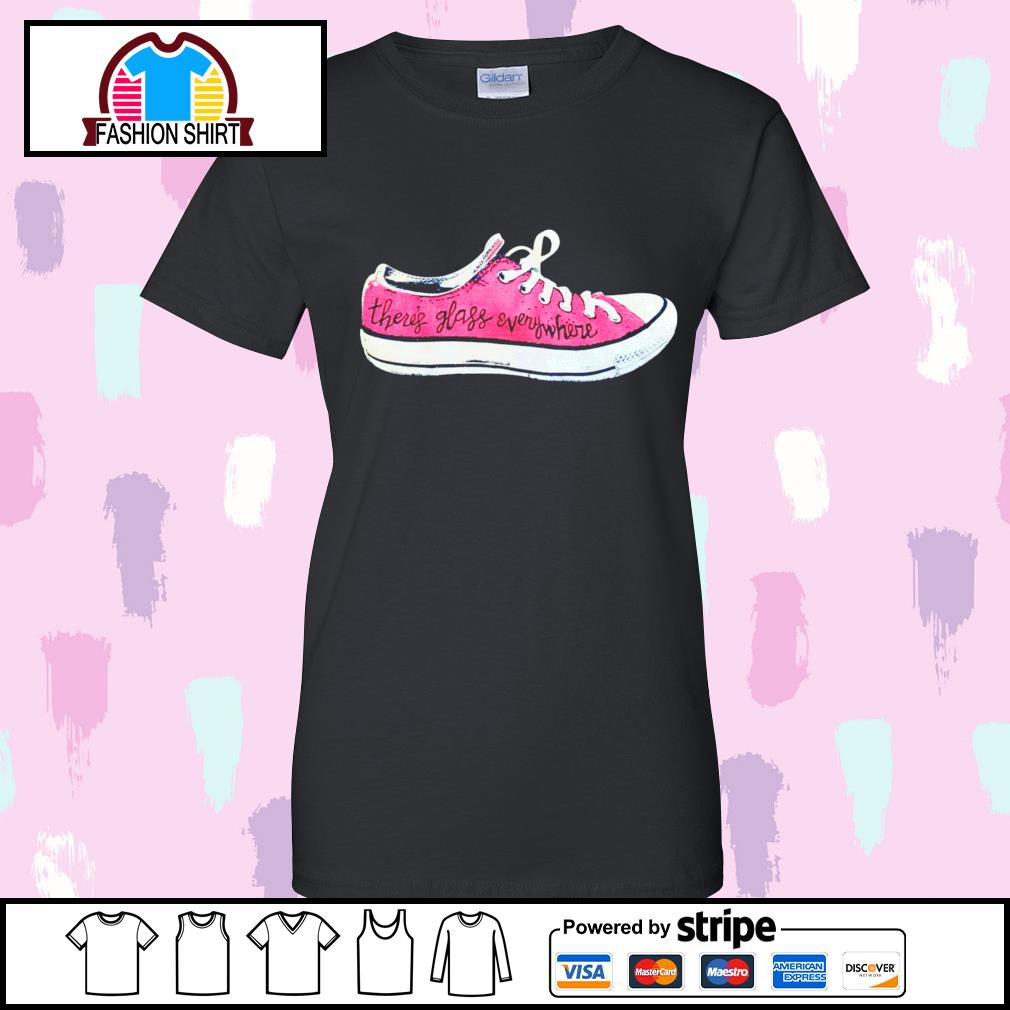 Converse there's glass everywhere sneaker s v-neck-t-shirt