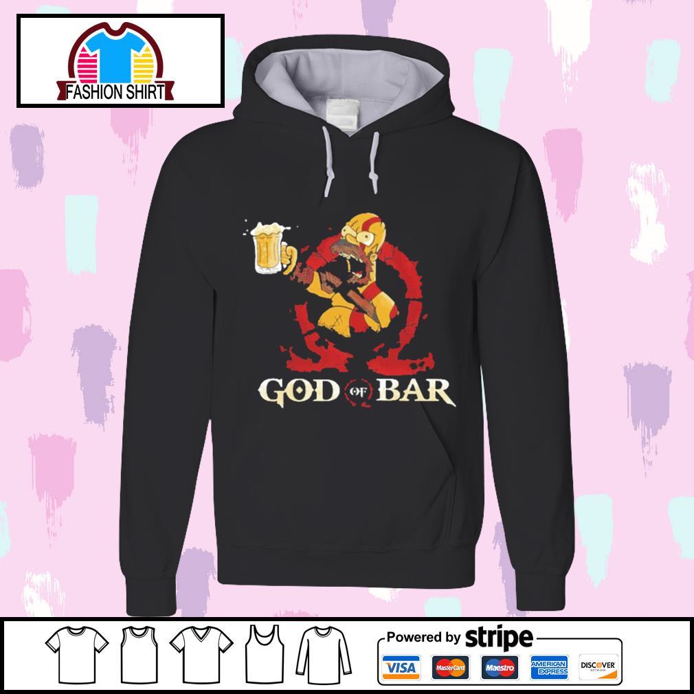 Homer Simpsons God of Bar s hoodie