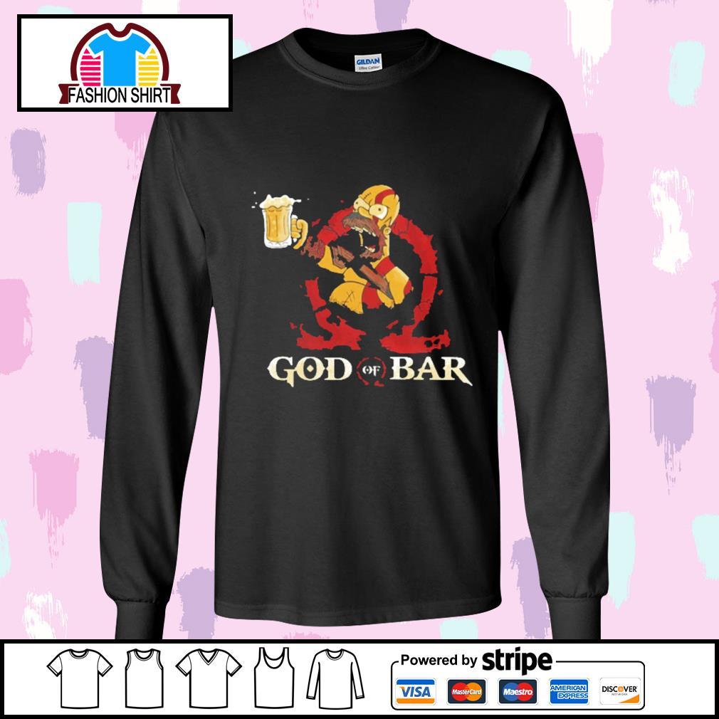 Homer Simpsons God of Bar s longsleeve-tee