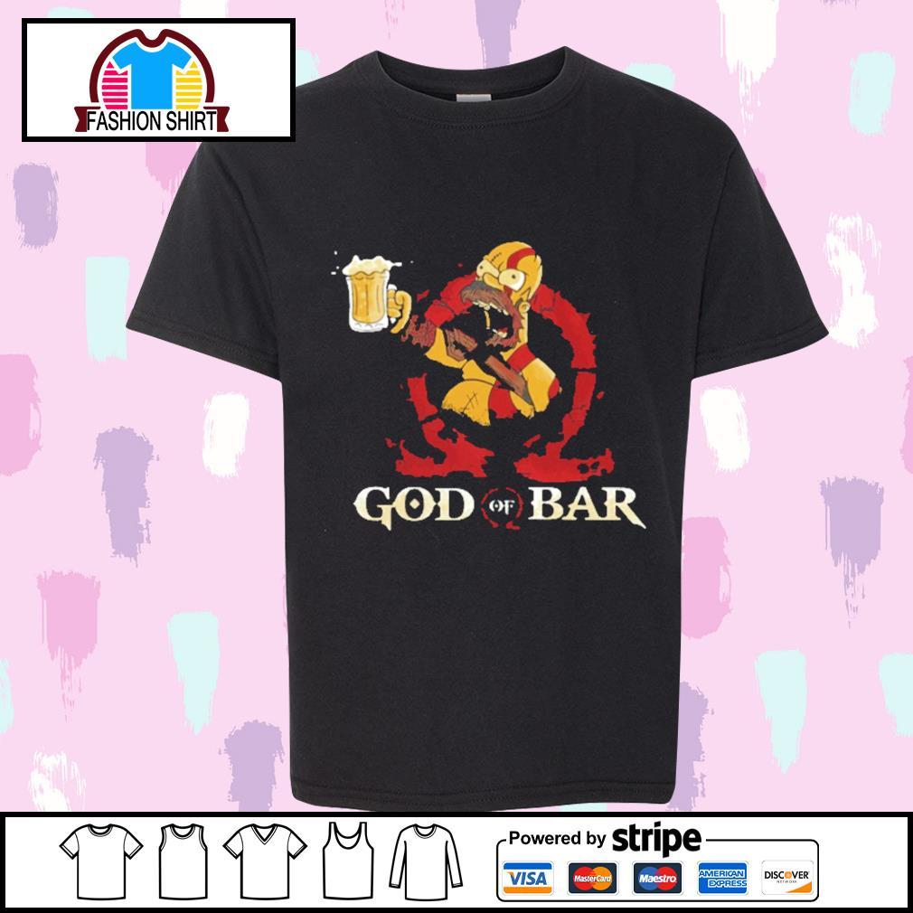 Homer Simpsons God of Bar shirt