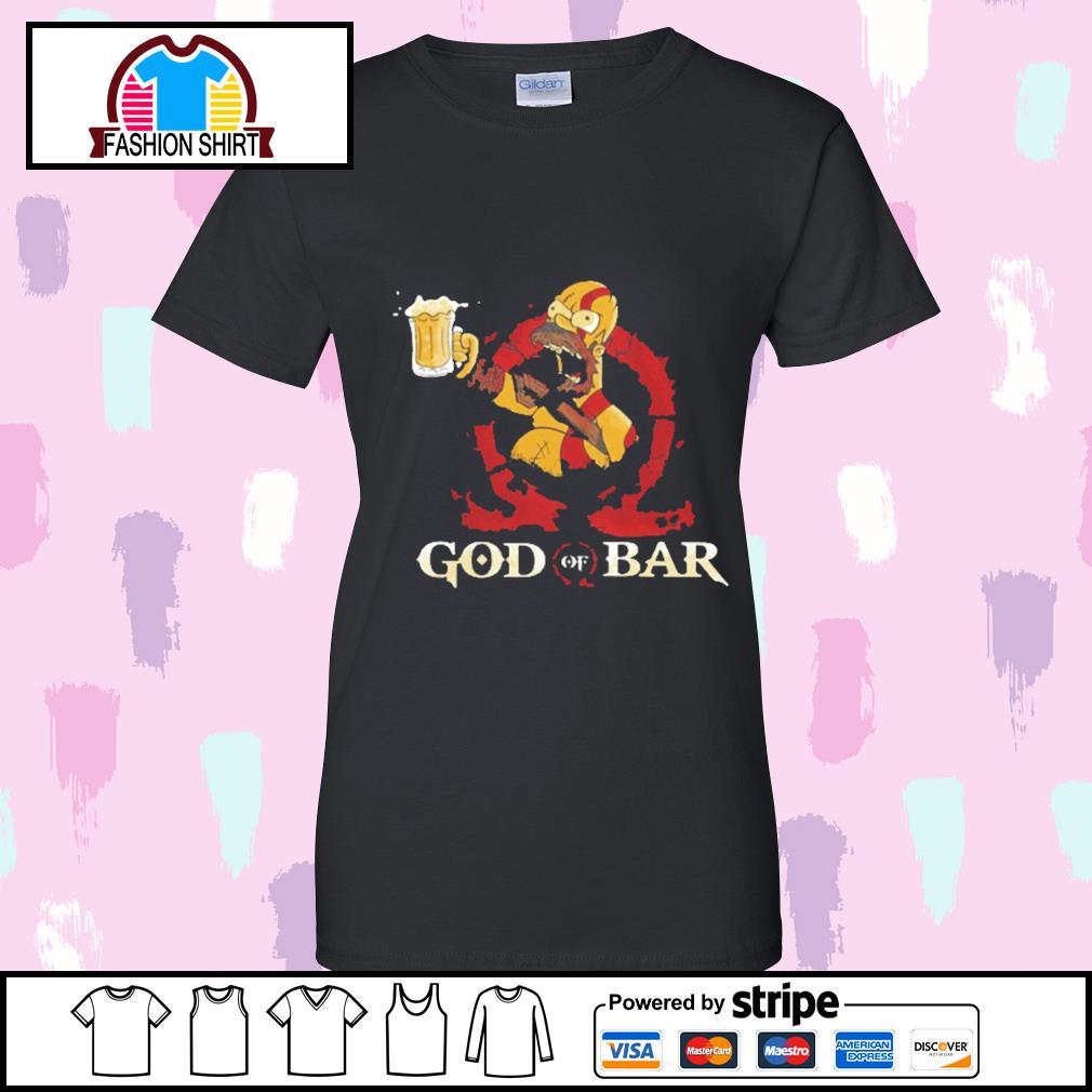 Homer Simpsons God of Bar s v-neck-t-shirt