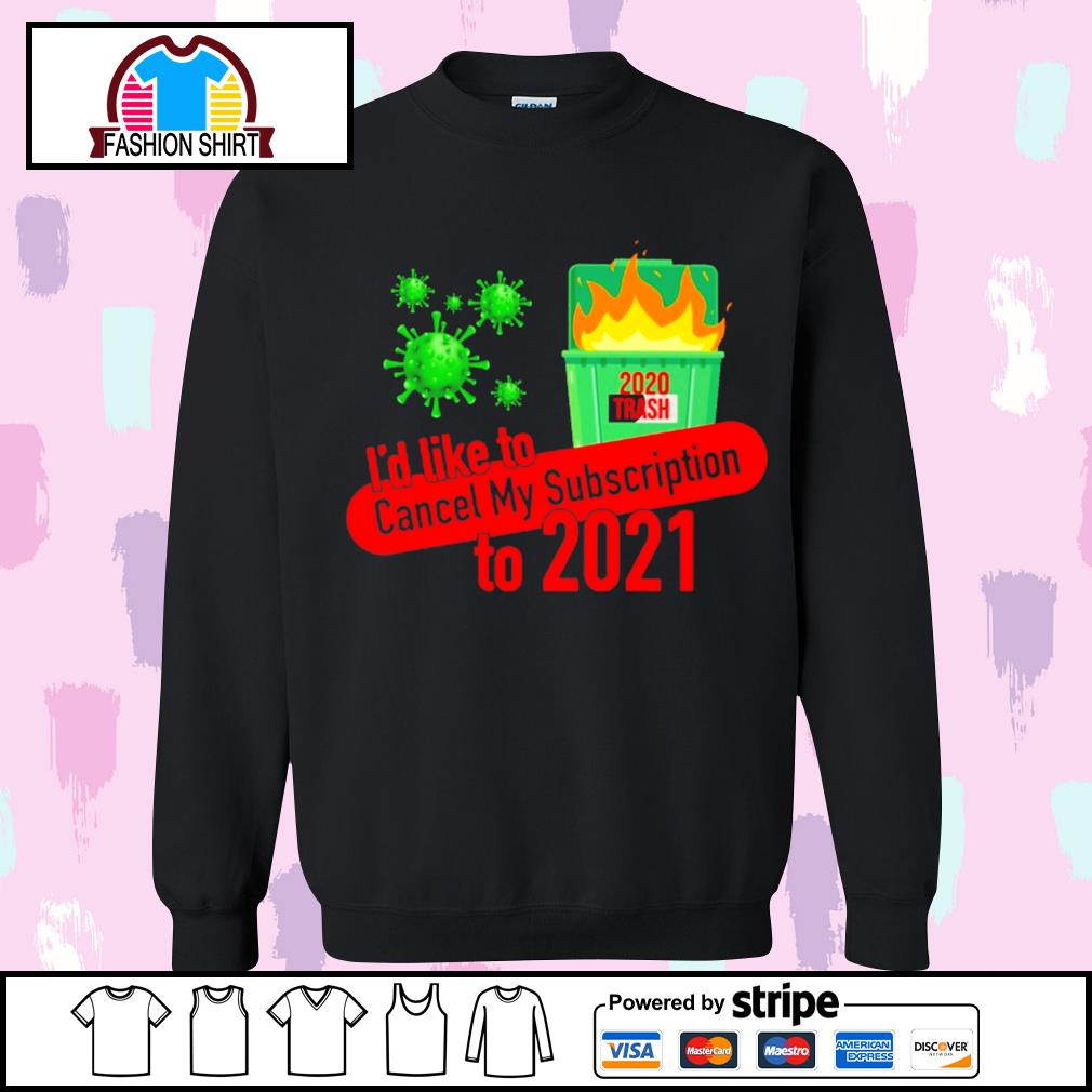I'd like to cancel my subscription to 2021 Dumpster fire s sweater