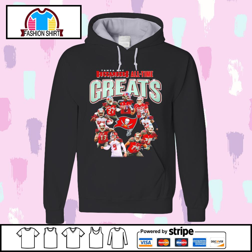 Tampa Bay Buccaneers all-time greats signatures s hoodie
