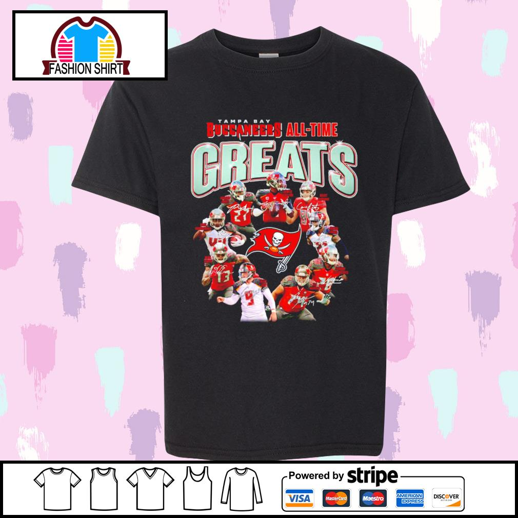Tampa Bay Buccaneers all-time greats signatures shirt
