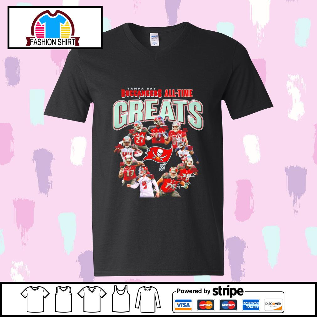 Tampa Bay Buccaneers all-time greats signatures s youth-tee