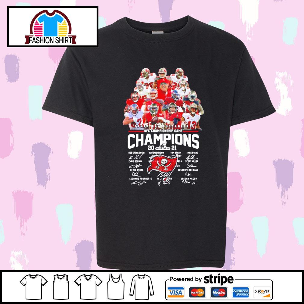 Tampa Bay Buccaneers NFC Championship Game Champions 2021 signature shirt