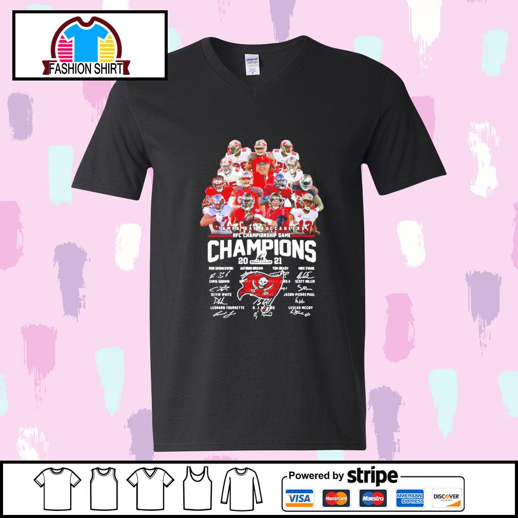 Tampa Bay Buccaneers NFC Championship Game Champions 2021 signature s youth-tee