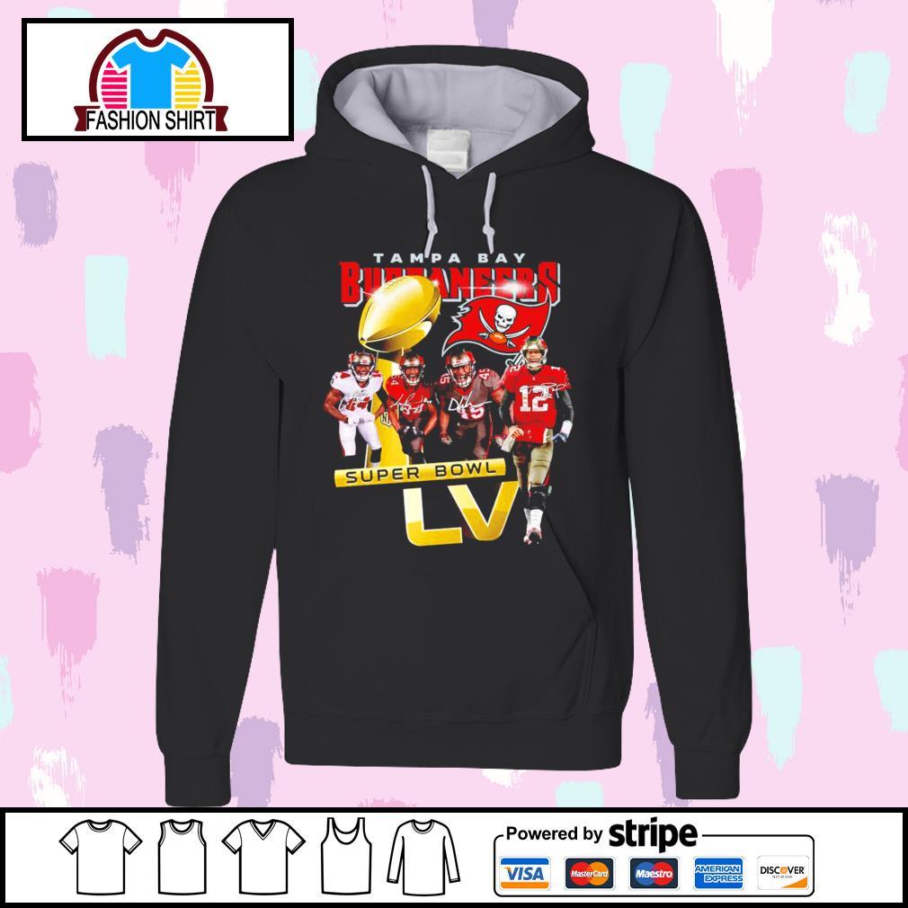 Tampa Bay Buccaneers Super Bowl LV signatures s hoodie
