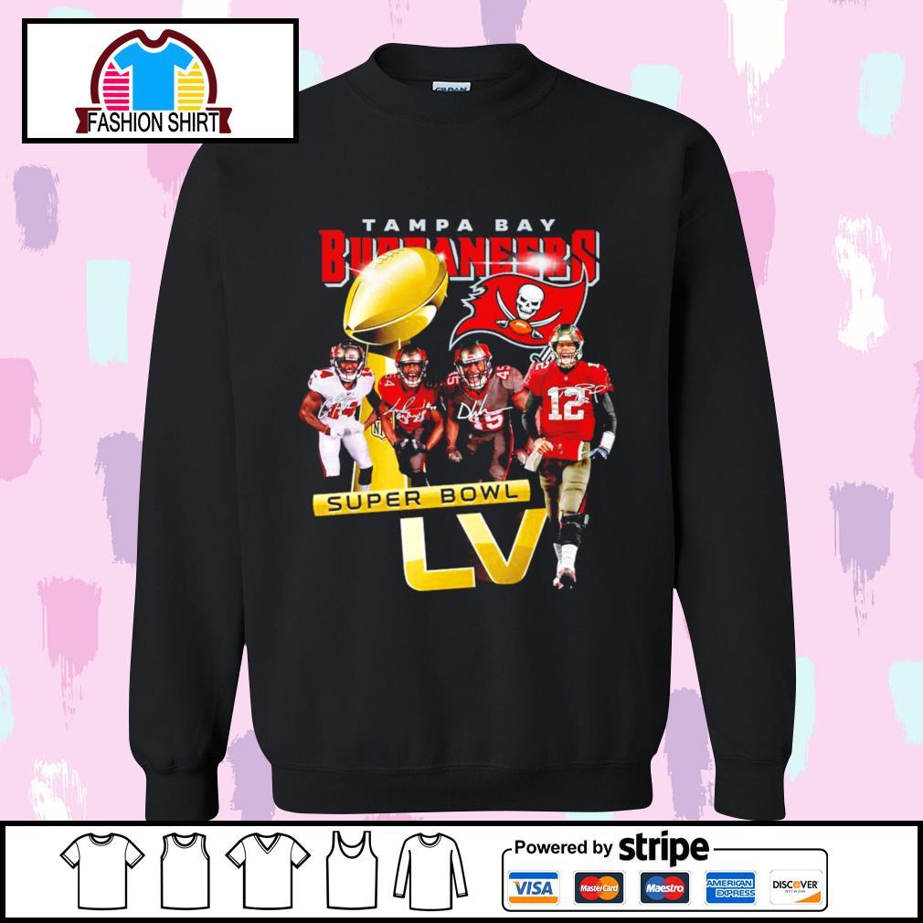 Tampa Bay Buccaneers Super Bowl LV signatures s sweater