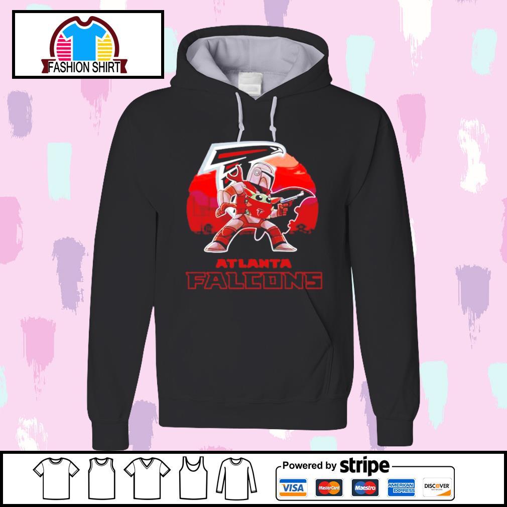 The Mandalorian Star War Baby Yoda with Atlanta Falcons 2021 s hoodie