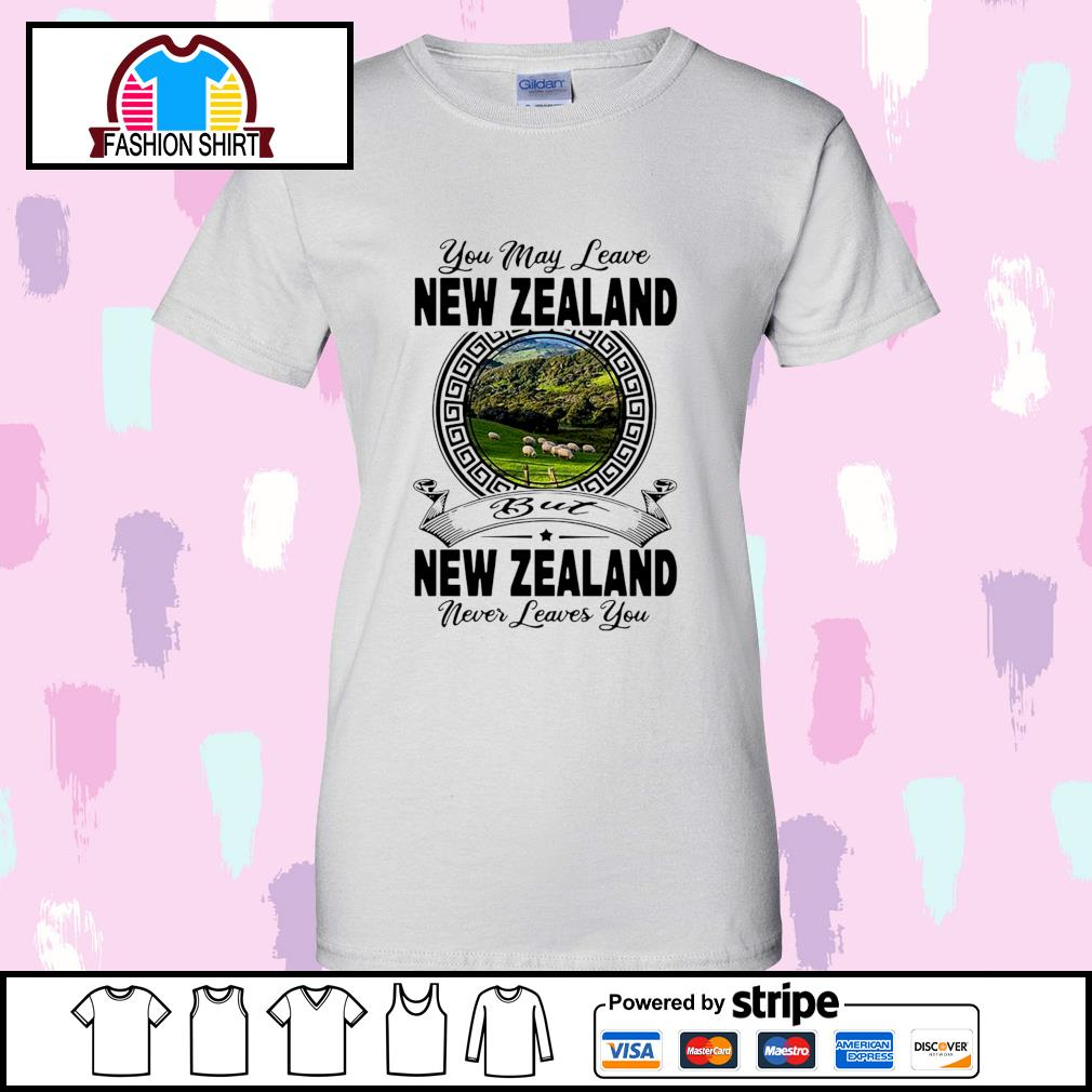 You may leave New Zealand but New Zealand never leaves you s v-neck-t-shirt